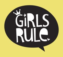 POP TYPE TYPOGRAPHY Girls Rule Black & white Kids Clothes