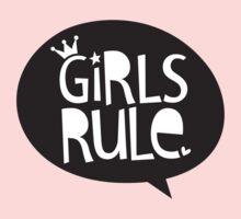 POP TYPE TYPOGRAPHY Girls Rule Black & white Kids Tee