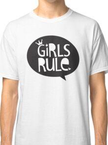 POP TYPE TYPOGRAPHY Girls Rule Black & white Classic T-Shirt