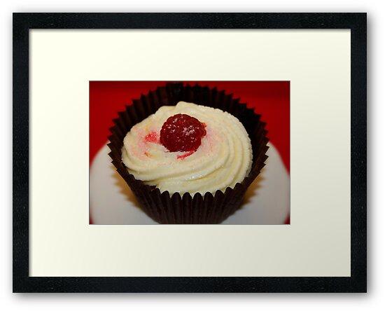 Raspberry & Coconut Cupcakes with Vanilla Buttercream by AnnDixon