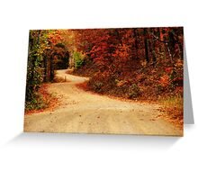 Twisted Path Greeting Card