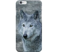 le loup gris iPhone Case/Skin