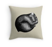 Wombat sleeping Throw Pillow