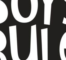 POP TYPE TYPOGRAPHY Boys Rule Black & white Sticker