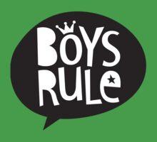 POP TYPE TYPOGRAPHY Boys Rule Black & white Baby Tee