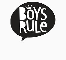 POP TYPE TYPOGRAPHY Boys Rule Black & white T-Shirt
