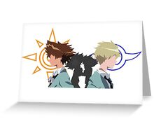 Tai and Matt/Yamato fight (Digimon) Greeting Card