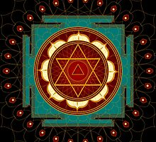 Kali Yantra Mandala by shoffman
