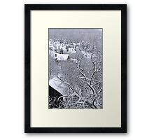 First snow winter background Framed Print