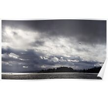 Clouds and Sun Over Puget Sound Poster