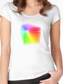 vector field colour wheel Women's Fitted Scoop T-Shirt