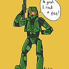 Halo: Master Beta needs a pee! by Extreme-Fantasy