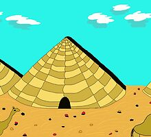 pyramids and camels by ArtNaive