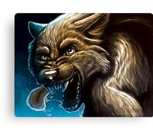 Angry Werewolf Canvas Print