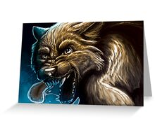 Angry Werewolf Greeting Card