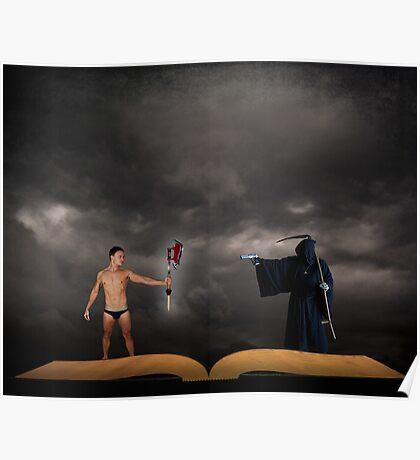 Hero vs Death Poster