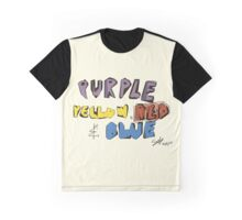 Purple Yellow Red & Blue Graphic T-Shirt