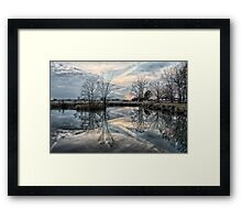 Reflections Of A Jagged Sunset Framed Print