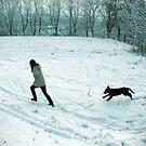 Girl with Dog by stevenajbeijer