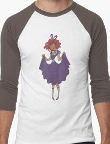 Cute Girl - Purple Dress Men's Baseball ¾ T-Shirt