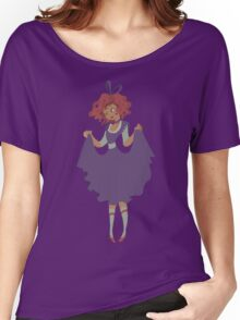 Cute Girl - Purple Dress Women's Relaxed Fit T-Shirt