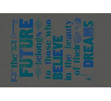 Future - dark blue Photographic Print