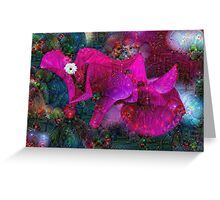 Magenta Floral Machine Dreams Greeting Card