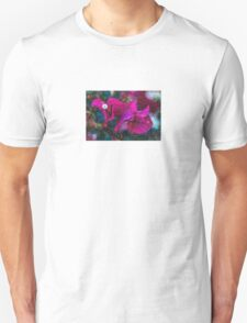 Magenta Floral Machine Dreams T-Shirt