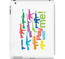Play with me! - multicolor iPad Case/Skin