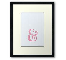 and.. in pink Framed Print