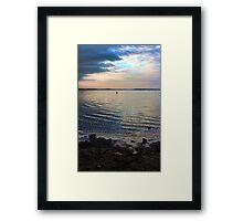 Bubbly Sunset Framed Print