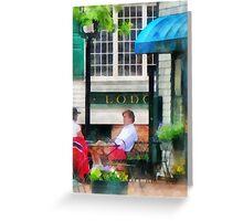 Rhode Island - Cafe Newport RI Greeting Card