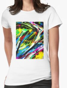 Abstract Painted Colour Wall Womens Fitted T-Shirt