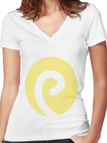 Politoed Swirl Women's Fitted V-Neck T-Shirt