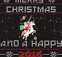 Merry Christmas and happy New Year- Ugly Christmas sweater by HueAnh