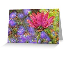 Multicolored Floral Machine Dreams #2 Greeting Card