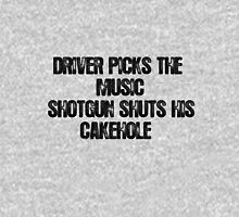 Driver Picks The Music (Dark) Unisex T-Shirt
