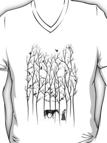 Jon Snow and Ghost Amongst Crows T-Shirt