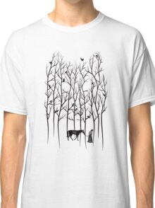 Snow and Ghost Amongst Crows Classic T-Shirt