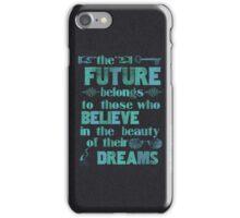 Future - light blue iPhone Case/Skin