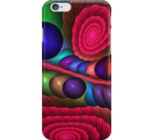 Spirals and Bubbles, abstract fractal case iPhone Case/Skin