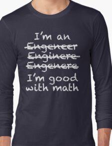 Engeneer Chalkboard Style Long Sleeve T-Shirt