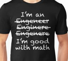 Engeneer Chalkboard Style Unisex T-Shirt