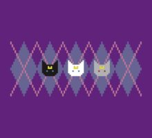 Pixel Argyle Cats by rydiachacha