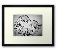 Shakespeare and T.S. Eliot The Tempest Framed Print