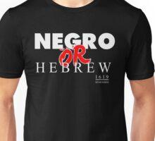 NEGRO OR HEBREW? BLK Unisex T-Shirt