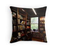 Booths Bookstore Throw Pillow