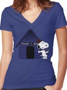 bigger on the inside Women's Fitted V-Neck T-Shirt