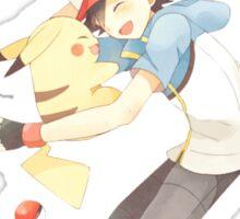 pokemon ash and pikachu  Sticker