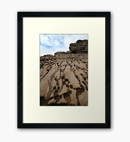 Beach Rocks - Wales Framed Print
